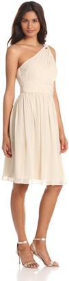 Donna Morgan Women's Rhea Short One Shoulder Dress