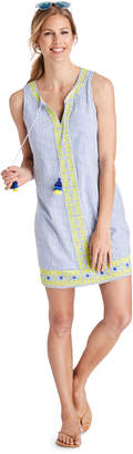 Vineyard Vines Striped Embroidered Swing Cover-Up