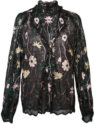 Giambattista Valli Embroidered Floral Blouse