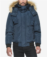 Andrew Marc Knox Memory Bomber Jacket with Faux Fur Hood