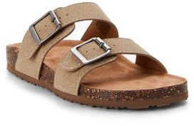 Time and Tru Two Band Footbed Slide Sandal (Women's)