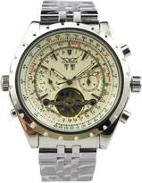 GuTe Mechanical Jaragar Men's 6 Hands Chronograph Stainless Steel Automatic Mechanical Watch