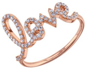 Sydney Evan 14K Rose Gold & Diamond Large Love Ring