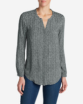 Eddie Bauer Women's Falling Leaves Long-Sleeve Shirt - Print