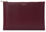 Aspinal of London Women's Essential Large Flat Pouch Burgundy