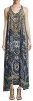 Camilla Embellished Sleeveless Maxi Dress, Constantinople
