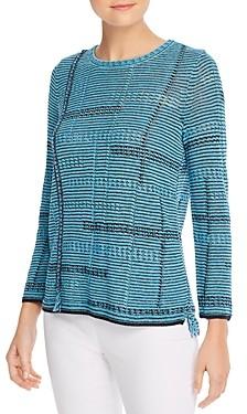 Nic+Zoe Open-Knit Fringed Sweater