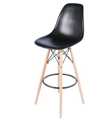 "Joseph Allen Bar & Counter Stool Seat Height: Bar Stool (30.5"" Seat Height), Upholstery: Black"