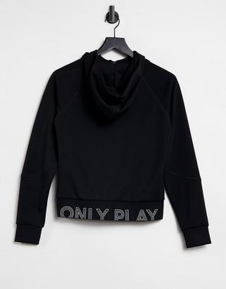 Only Play Nylah zip through hoody in black