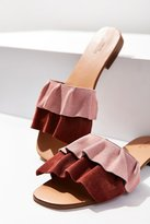Urban Outfitters Suede Ruffle Slide