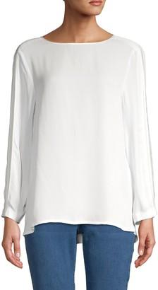 DKNY Pleated-Sleeve Blouse