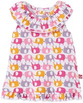 Zutano Ellas Elephants Ruffle Sunshine Top (Baby) - White - 12 Months