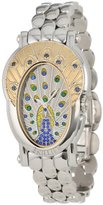 Brillier Women's 18-12 Royal Plume Peacock Inspired Swiss Genuine Blue Sapphires Watch