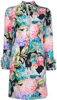 Gucci Hydrangea print dress - women - Silk - 40