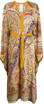 Etro paisley belted dress