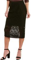 BCBGMAXAZRIA Lace Midi Skirt