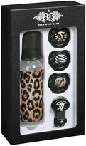 Rock Star Baby Leopard Print Bottle And Pacifier Set