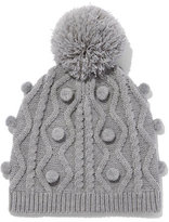 New York & Co. Pom-Pom Cable-Knit Hat