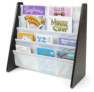 Humble Crew Kids Book Rack with Fabric Sling Sleeves, Multiple Colors