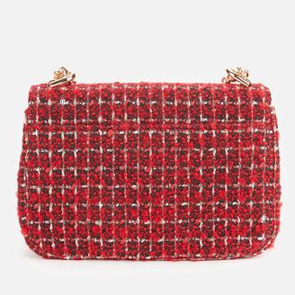 MICHAEL Michael Kors Women's Soho Checkered Tweed Small Chain Shoulder Bag - Bright Red
