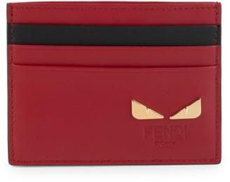 Fendi Monster Eye Leather Card Case