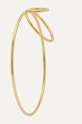 Saskia Diez Big Triple Gold-plated Ear Cuff - one size