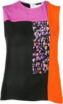Versace colour block blouse