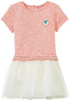 Billieblush Dropwaist Dress W/Tulle Hem (Toddler) - Red Fire-2 Years