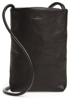 Baggu Leather Phone Crossbody Bag - Black