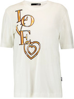 Love Moschino Printed Cotton And Modal-Blend T-Shirt
