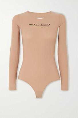 MM6 MAISON MARGIELA Printed Stretch-jersey Bodysuit - Beige