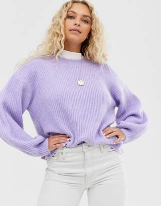 Weekday drop sleeve jumper in lilac-Purple