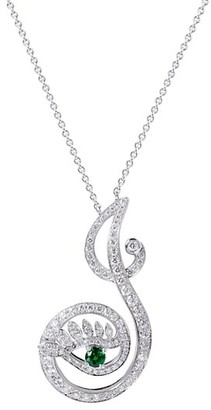 Tabayer Eye 18K White Gold, Emerald & Diamond Joyous Pendant Necklace