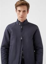 MANGO MAN Two-Way Zipper Cotton-Blend Jacket