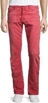 PRPS Demon Distressed Denim Jeans, Red