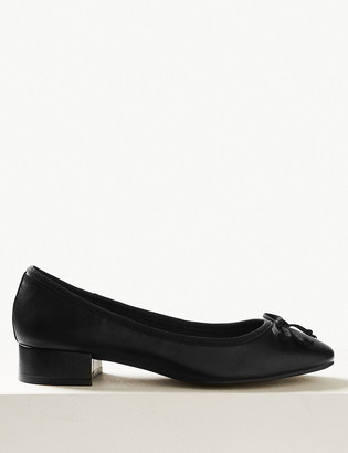 Marks and Spencer Leather Round Toe Ballet Pumps