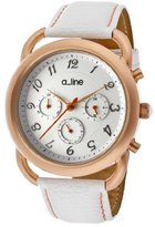 A Line a_line Women's AL-80012-RG-02-WH-SSET Maya Rose Gold-Tone Stainless Steel Watch with Three Interchangeable Bands