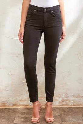 A Gold E Agolde AGOLDE Sophie Skinny Ankle Jean in Sane Black 24