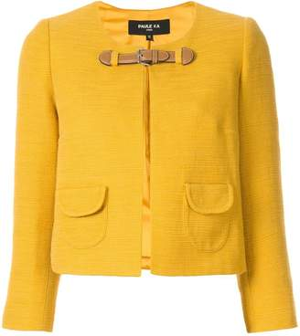 Paule Ka cropped buckle jacket