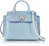 MCM Sky Blue Park Avenue Leather Milla Small Crossbody