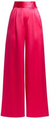 Adriana Iglesias Fiora Silk Wide-Leg Pants