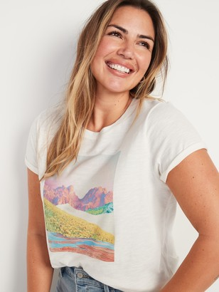 Old Navy EveryWear Graphic Short-Sleeve Tee for Women
