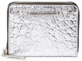 Rebecca Minkoff Ava Mini Metallic Leather Zip Wallet