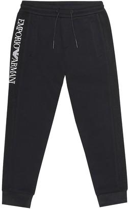 Emporio Armani Kids Logo cotton-blend sweatpants