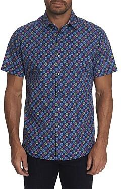 Robert Graham Gearbox Cotton Daisy Print Classic Fit Button-Up Shirt