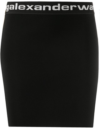 Alexander Wang Logo Print High-Waisted Skirt