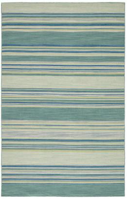 Jaipur Living Kiawah Handmade Stripe Blue/Turquoise Area Rug, 2'x3'