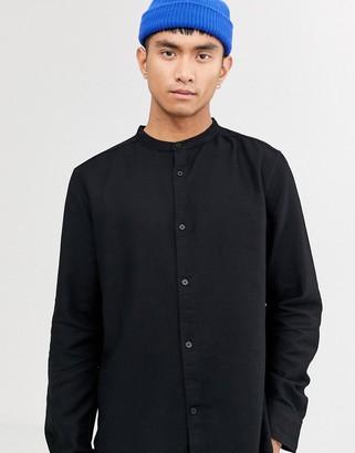 Weekday Hero structure shirt in black