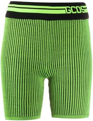 GCDS Logo Ribbed Shorts