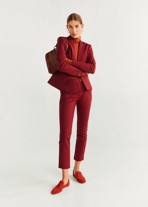MANGO Essential structured blazer beige - 2 - Women